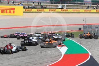 World © Octane Photographic Ltd. Formula 1 – United States GP - Race. McLaren MCL33 – Fernando Alonso. Circuit of the Americas (COTA), USA. Sunday 21st October 2018.