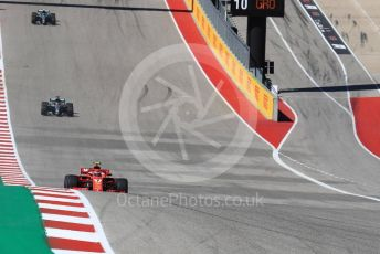World © Octane Photographic Ltd. Formula 1 – United States GP - Race. Scuderia Ferrari SF71-H – Kimi Raikkonen. Circuit of the Americas (COTA), USA. Sunday 21st October 2018.