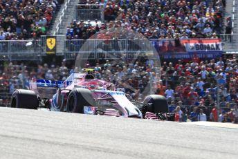 World © Octane Photographic Ltd. Formula 1 – United States GP - Race. Racing Point Force India VJM11 - Esteban Ocon. Circuit of the Americas (COTA), USA. Sunday 21st October 2018.