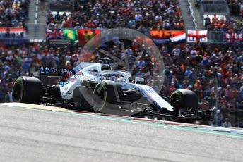 World © Octane Photographic Ltd. Formula 1 – United States GP - Race. Williams Martini Racing FW41 – Lance Stroll. Circuit of the Americas (COTA), USA. Sunday 21st October 2018.
