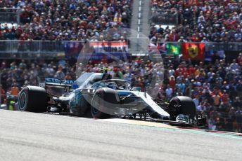 World © Octane Photographic Ltd. Formula 1 – United States GP - Race. Mercedes AMG Petronas Motorsport AMG F1 W09 EQ Power+ - Valtteri Bottas. Circuit of the Americas (COTA), USA. Sunday 21st October 2018.