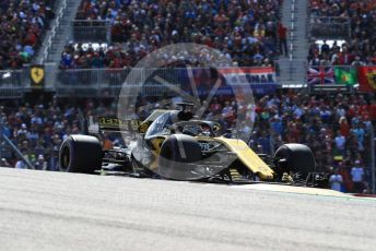 World © Octane Photographic Ltd. Formula 1 – United States GP - Race. Renault Sport F1 Team RS18 – Nico Hulkenberg. Circuit of the Americas (COTA), USA. Sunday 21st October 2018.