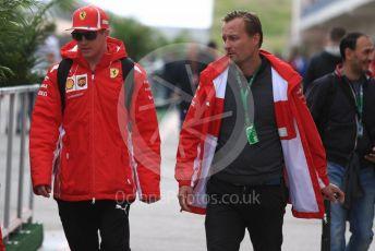 World © Octane Photographic Ltd. Formula 1 – United States GP - Paddock. Scuderia Ferrari SF71-H – Kimi Raikkonen. Circuit of the Americas (COTA), USA. Saturday 20th October 2018.
