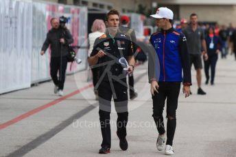 World © Octane Photographic Ltd. Formula 1 – United States GP - Paddock. Scuderia Toro Rosso STR13 – Pierre Gasly. Circuit of the Americas (COTA), USA. Saturday 20th October 2018.