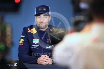 World © Octane Photographic Ltd. Formula 1 – United States GP - FIA Drivers' Press Conference. Aston Martin Red Bull Racing TAG Heuer – Daniel Ricciardo. Circuit of the Americas (COTA), USA. Thursday 18th October 2018.