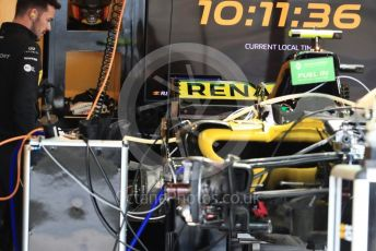 World © Octane Photographic Ltd. Formula 1 – United States GP - Pit Lane. Renault Sport F1 Team RS18. Circuit of the Americas (COTA), USA. Thursday 18th October 2018.