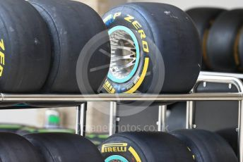 World © Octane Photographic Ltd. Formula 1 – United States GP – Pit Lane. Mercedes AMG Petronas Motorsport AMG F1 W09 EQ Power+ tyres. Circuit of the Americas (COTA), USA. Thursday 18th October 2018.