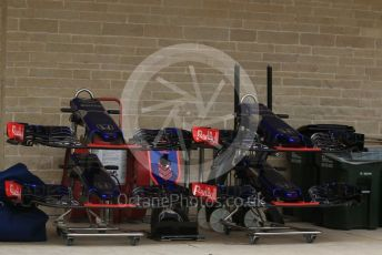 World © Octane Photographic Ltd. Formula 1 – United States GP - Pit Lane. Scuderia Toro Rosso STR13. Circuit of the Americas (COTA), USA. Thursday 18th October 2018.