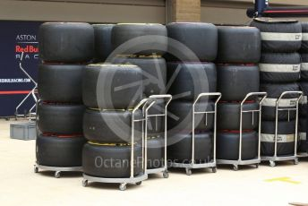 World © Octane Photographic Ltd. Formula 1 – United States GP – Pit Lane Setup. Aston Martin Red Bull Racing TAG Heuer. Circuit of the Americas (COTA), USA. Wednesday 17th October 2018.