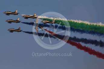 World © Octane Photographic Ltd. UAE Al Fursan (The Knights) Air Display Team – Aermacchi MB-339A. Saturday 30th November 2019, F1 Abu Dhabi GP - Yas Marina circuit, Abu Dhabi, UAE.