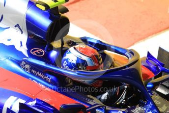 World © Octane Photographic Ltd. Formula 1 – Abu Dhabi GP - Practice 1. Scuderia Toro Rosso STR14 – Pierre Gasly. Yas Marina Circuit, Abu Dhabi, UAE. Friday 29th November 2019.