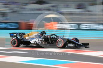 World © Octane Photographic Ltd. Formula 1 – Abu Dhabi GP - Practice 1. Haas F1 Team VF19 – Romain Grosjean. Yas Marina Circuit, Abu Dhabi, UAE. Friday 29th November 2019.