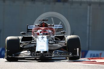 World © Octane Photographic Ltd. Formula 1 – Abu Dhabi GP - Practice 1. Alfa Romeo Racing C38 – Kimi Raikkonen. Yas Marina Circuit, Abu Dhabi, UAE. Friday 29th November 2019.