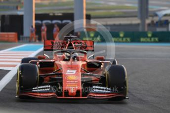 World © Octane Photographic Ltd. Formula 1 – Abu Dhabi GP - Practice 2. Scuderia Ferrari SF90 – Sebastian Vettel. Yas Marina Circuit, Abu Dhabi, UAE. Friday 29th November 2019.