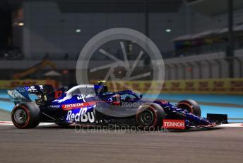 World © Octane Photographic Ltd. Formula 1 – Abu Dhabi GP - Practice 2. Scuderia Toro Rosso STR14 – Pierre Gasly. Yas Marina Circuit, Abu Dhabi, UAE. Friday 29th November 2019.