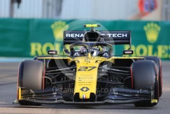 World © Octane Photographic Ltd. Formula 1 – Abu Dhabi GP - Practice 3. Renault Sport F1 Team RS19 – Nico Hulkenberg. Yas Marina Circuit, Abu Dhabi, UAE. Saturday 30th November 2019.