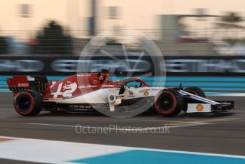 World © Octane Photographic Ltd. Formula 1 – Abu Dhabi GP - Qualifying. Alfa Romeo Racing C38 – Kimi Raikkonen. Yas Marina Circuit, Abu Dhabi, UAE. Saturday 30th November 2019.