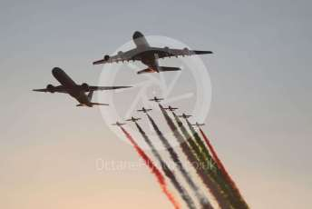 World © Octane Photographic Ltd. Formula 1 - Abu Dhabi GP - Race. Etihad and Al Fursan pre-race flyby. Yas Marina Circuit, Abu Dhabi, UAE. Sunday 1st December 2019.
