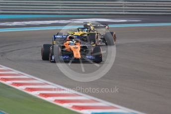 World © Octane Photographic Ltd. Formula 1 – Abu Dhabi GP - Race. McLaren MCL34 – Lando Norris and Renault Sport F1 Team RS19 – Daniel Ricciardo. Yas Marina Circuit, Abu Dhabi, UAE. Sunday 1st December 2019.