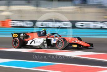 World © Octane Photographic Ltd. FIA Formula 2 (F2) – Abu Dhabi GP - Practice. TMP Motorsport - Mahaveer Raghunathan. Yas Marina Circuit, Abu Dhabi, UAE. Friday 29th November 2019.