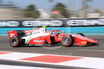 World © Octane Photographic Ltd. FIA Formula 2 (F2) – Abu Dhabi GP - Practice. Prema Racing - Sean Gelael. Yas Marina Circuit, Abu Dhabi, UAE. Friday 29th November 2019.