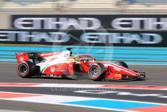 World © Octane Photographic Ltd. FIA Formula 2 (F2) – Abu Dhabi GP - Practice. Prema Racing – Mick Schumacher. Yas Marina Circuit, Abu Dhabi, UAE. Friday 29th November 2019.