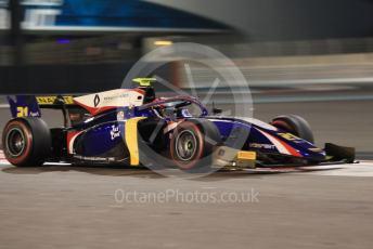 World © Octane Photographic Ltd. FIA Formula 2 (F2) – Abu Dhabi GP - Race 1. Trident – Christian Lundgaard. Yas Marina Circuit, Abu Dhabi, UAE. Saturday 30th November 2019.