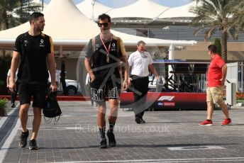 World © Octane Photographic Ltd. Formula 1 – Abu Dhabi GP - Paddock. Renault Sport F1 Team RS19 – Daniel Ricciardo. Yas Marina Circuit, Abu Dhabi, UAE. Friday 29th November 2019.