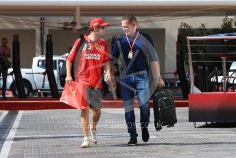 World © Octane Photographic Ltd. Formula 1 – Abu Dhabi GP - Paddock. Scuderia Ferrari SF90 – Sebastian Vettel. Yas Marina Circuit, Abu Dhabi, UAE. Friday 29th November 2019.