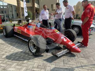 World © Octane Photographic Ltd. Formula 1 – Abu Dhabi GP . Sotheby's auction. Scuderia Ferrari 126C2 Patrick Tambay. Yas Marina Circuit, Abu Dhabi, UAE. Saturday 30th November 2019.