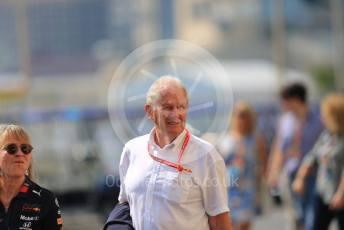 World © Octane Photographic Ltd. Formula 1 - Abu Dhabi GP - Paddock. Helmut Marko - advisor to the Red Bull GmbH Formula One Teams and head of Red Bull's driver development program. Yas Marina Circuit, Abu Dhabi, UAE. Sunday 1st December 2019.