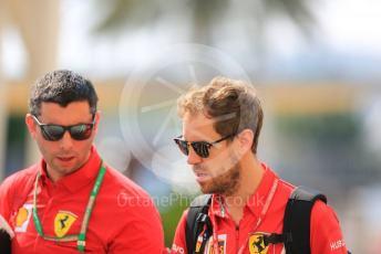 World © Octane Photographic Ltd. Formula 1 – Abu Dhabi GP - Paddock. Scuderia Ferrari SF90 – Sebastian Vettel. Yas Marina Circuit, Abu Dhabi, UAE. Sunday 1st December 2019.