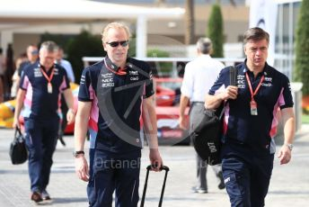 World © Octane Photographic Ltd. Formula 1 - Abu Dhabi GP - Paddock. Andrew (Andy) Green - Technical Director at SportPesa and Andy Stevenson – Sporting Director at SportPesa Racing Point. Yas Marina Circuit, Abu Dhabi, UAE. Sunday 1st December 2019.