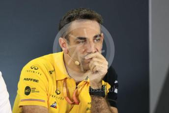 World © Octane Photographic Ltd. Formula 1 - Abu Dhabi GP – Friday FIA Team Press Conference. Cyril Abiteboul - Managing Director of Renault Sport Racing Formula 1 Team. Yas Marina Circuit, Abu Dhabi, UAE. Friday 29th November 2019.