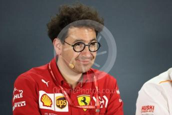 World © Octane Photographic Ltd. Formula 1 - Abu Dhabi GP – Friday FIA Team Press Conference. Mattia Binotto – Team Principal of Scuderia Ferrari. Yas Marina Circuit, Abu Dhabi, UAE. Friday 29th November 2019.