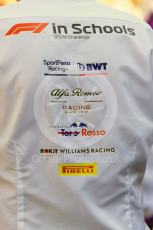 World © Octane Photographic Ltd. Formula 1 in Schools– Abu Dhabi GP . F1 team logos. Yas Marina Circuit, Abu Dhabi, UAE. Thursday 28th November 2019.