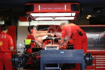 World © Octane Photographic Ltd. Formula 1 – Abu Dhabi GP - Paddock. Scuderia Ferrari SF90 – Charles Leclerc. Yas Marina Circuit, Abu Dhabi, UAE. Thursday 28th November 2019.