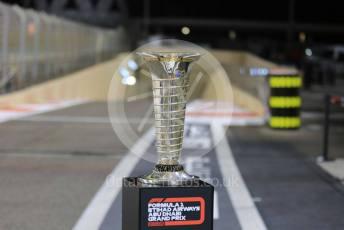 World © Octane Photographic Ltd. Formula 1 – Abu Dhabi GP - Pitlane. Winning Driver's Trophy. Yas Marina Circuit, Abu Dhabi, UAE. Thursday 28th November 2019.
