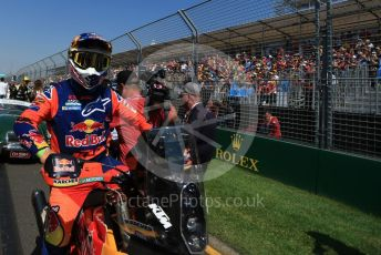 World © Octane Photographic Ltd. Formula 1 – Australian GP Drivers' parade. Red Bull motorbike. Melbourne, Australia. Sunday 17th March 2019.