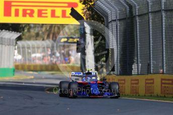 World © Octane Photographic Ltd. Formula 1 – Australian GP Practice 1. Scuderia Toro Rosso STR14 – Alexander Albon. Friday 15th Melbourne, Australia. Friday 15th March 2019.
