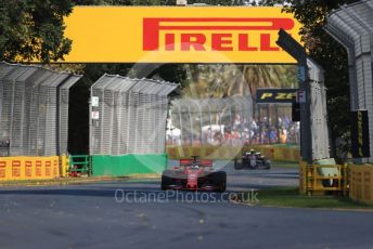 World © Octane Photographic Ltd. Formula 1 – Australian GP Practice 1. Scuderia Ferrari SF90 – Sebastian Vettel and Rich Energy Haas F1 Team VF19 – Kevin Magnussen. Friday 15th Melbourne, Australia. Friday 15th March 2019.