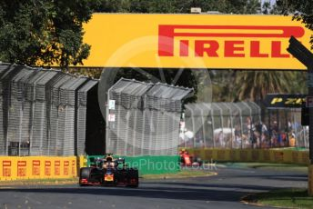 World © Octane Photographic Ltd. Formula 1 – Australian GP Practice 1. Aston Martin Red Bull Racing RB15 – Max Verstappen and Scuderia Ferrari SF90 – Charles Leclerc. Friday 15th Melbourne, Australia. Friday 15th March 2019.