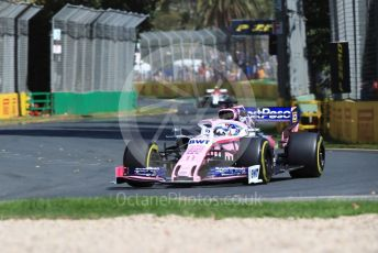 World © Octane Photographic Ltd. Formula 1 – Australian GP Practice 1. SportPesa Racing Point RP19 - Sergio Perez and Alfa Romeo Racing C38 – Antonio Giovinazzi. Friday 15th Melbourne, Australia. Friday 15th March 2019.
