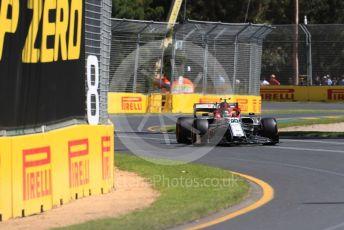 World © Octane Photographic Ltd. Formula 1 – Australian GP Practice 1. Alfa Romeo Racing C38 – Antonio Giovinazzi. Friday 15th Melbourne, Australia. Friday 15th March 2019.