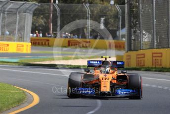 World © Octane Photographic Ltd. Formula 1 – Australian GP Practice 1. McLaren MCL34 – Lando Norris. Friday 15th Melbourne, Australia. Friday 15th March 2019.