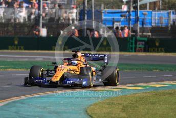 World © Octane Photographic Ltd. Formula 1 – Australian GP Practice 2. McLaren MCL34 – Carlos Sainz. Friday 15th Melbourne, Australia. Friday 15th March 2019.