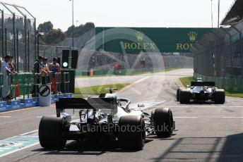 World © Octane Photographic Ltd. Formula 1 – Australian GP Practice 3. Mercedes AMG Petronas Motorsport AMG F1 W10 EQ Power+ - Lewis Hamilton. Saturday 16th Melbourne, Australia. Saturday 16th March 2019.