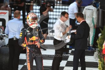 World © Octane Photographic Ltd. Formula 1 – Australian GP Parc Ferme. Aston Martin Red Bull Racing RB15 – Max Verstappen. Melbourne, Australia. Sunday 17th March 2019.