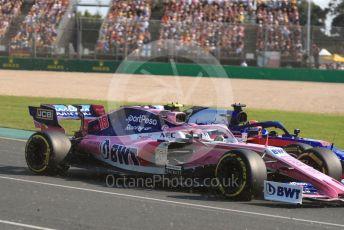 World © Octane Photographic Ltd. Formula 1 – Australian GP Race. Scuderia Toro Rosso STR14 – Daniil Kvyat and SportPesa Racing Point RP19 – Lance Stroll. Melbourne, Australia. Sunday 17th March 2019.