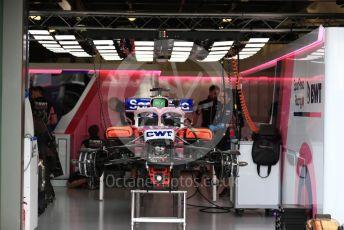 World © Octane Photographic Ltd. Formula 1 – Australian GP Pitlane. SportPesa Racing Point RP19 - Sergio Perez. Friday 15th Melbourne, Australia. Friday 15th March 2019.
